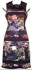 Clover Canyon women's Sleeveless Neoprene Bodycon Dress SZ XS Floral Striped