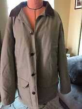 LL BEAN MENS HEAVY COTTON ADIRONDACK JACKET BARN WORK COAT CORDUROY TRIM SIZE L