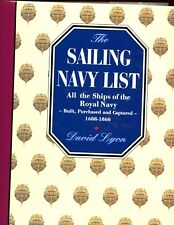 br- Sailing Navy List: All the Ships of the Royal Navy - 1688-1860  1st HBdj VG