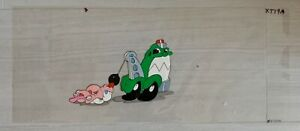 """TEX AVERY MOTOR CRAFT TV COMMERCIAL PRODUCTION ANIMATION CEL 25""""X10"""" XT19A"""