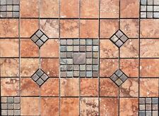 "24 1/8"" X 18"" Tile Medallion - Daltile reddish tile & slate, floor or wall"
