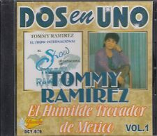 Tommy Ramirez El Humilde Trovador De Mexico 2en1 Vol 1 CD New Nuevo sealed