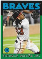 2021 TOPPS SERIES 1 RONALD ACUNA JR 35TH ANNIVERSARY GREEN PARALLEL CARD- BRAVES