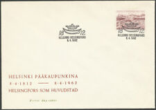 Finland 1962 FDC 30mk - Helsinki 100 years as Capital - Finnish cities