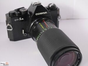 Set: Cosina CT-1A SLR Camera + Lens Pk Super-Danubia Mc 75-200/4,5 Lens Otz