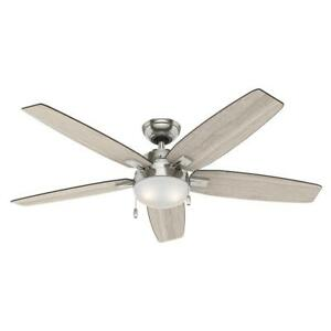 HUNTER Antero 54 in. LED Brushed Nickel Ceiling Fan w/ Light #1436