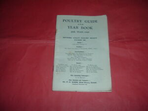 POULTRY GUIDE AND YEAR BOOK 1945, 80 PAGES, INCL PHOTOS, ETC SOFT BACK