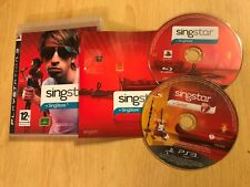 2 X PS3 playstation 3 SING STAR JEUX SINGSTAR volume 1 & Singstar Guitar