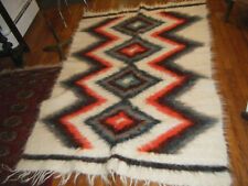 "THICK HEAVY VTG LONG FIBER ALL SHEEP WOOL BLANKET 78""X 54"" CARPATHIAN / UKRAINE"