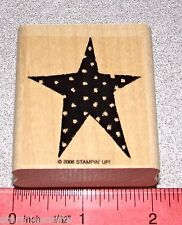 Star Single Stamp with Polka Dots Spots Trimmed & Clean by Stampin Up Love it