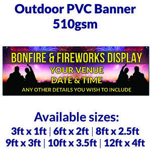 Personalised Fireworks Display Bonfire Outdoor PVC Banner Business Park Event