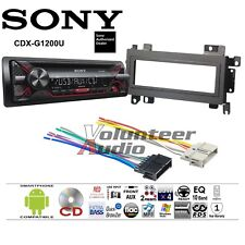 13 results for sony cdx m630 sony car radio stereo cd player dash install mounting kit trim panel harness
