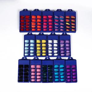 100 False Nails Full Cover Long Stiletto Fake Nails Art Manicure