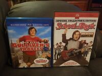 Lot of 2 Jack Black movies!!:Gullivers Travels and School of Rock!!