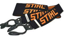 GENUINE STIHL® 110cm BLACK ORANGE CHAINSAW TROUSER BUTTON ON BRACES 000-884-1579