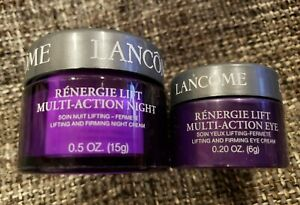 Genuine Lacome Lifting and Firming Night Cream (Dry Skin) Eye Duo
