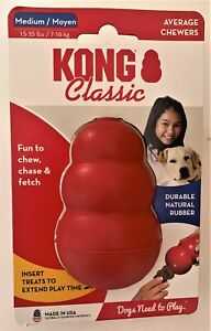Classic Kong Dog Chew Toy. 5 Sizes USA made Recommended by Vets