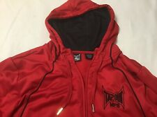 TapOut MPS Hoodie Jacket XL Red W Black Trim Full Zip Snagged