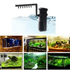 3-in-1 Pompe à Eau à Air Filtre d'Aquarium Submersible 1.3M 800L/H EU 5W