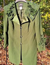Ferre Milano Paris New York Italy Rhinestone Blazer JACKET COAT Womens Size 10
