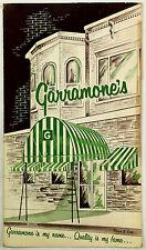 Vintage Dinner Menu GARRAMONE'S RESTAURANT Utica New York Italian American