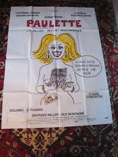 AFFICHE ORIGINALE PAULETTE de Georges WOLINSKI 160 cm X 120 cm C.CONFORTES 1986