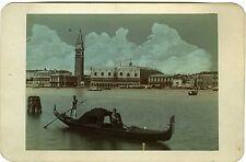 PHOTO CABINET hand tinted rehaussée Palais des doges Campanile Venise