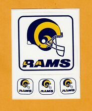 1980's LOS ANGELES L A RAMS HELMET LOGO DECAL 4 STICKER SHEET OLD Team Stock