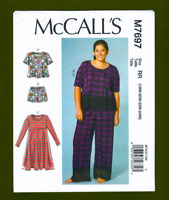 New! Tops, Dress, Shorts, Pants Sewing Pattern (Plus Sizes 18W-24W) McCalls 7697