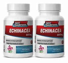 Natural Mental Health Support Capsules - Echinacea Powder 400mg - Echinacea 2B