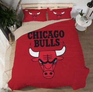 Chicago Bulls Duvet Cover Full King Bedding Quilt Cover Pillow Case Flat Sheet