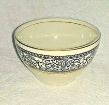 Small Bowl Saracen Wood & Sons Sugar Bowl Made England  White Alpine Ironstone