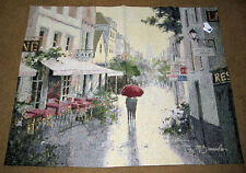Cafe De Ville ~ Paris France Street Grande Tapestry Wall Hanging