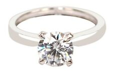 Solid 14KT White Gold With 2.15 Carat Round Shape Solitaire Women's Wedding Ring