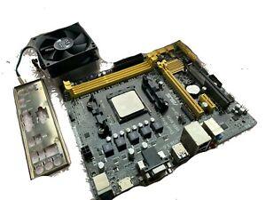 Mainboard Asus A78M-E FM2+ mATX Rev. 1.3 DDR3 mit Blende u. CPU AMD A6-6400