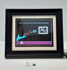 """HP 8"""" Digital Picture Frame Solid Wood Frame DF820B2-24 w/ Adapter & 32GB stick"""
