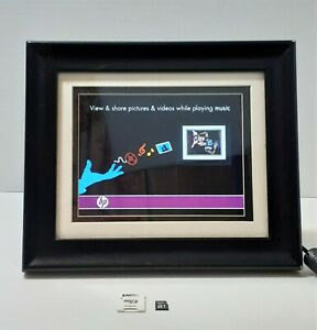 "HP 8"" Digital Picture Frame Solid Wood Frame DF820B2-24 w/ Adapter & 32GB stick"