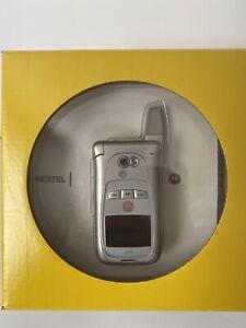 Motorola Nextel i870 - Silver (Unlocked) Cellular Phone Collector's item
