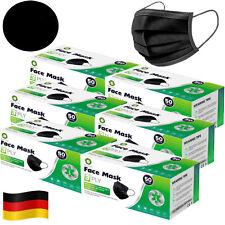 Masken Einwegmaske SCHWARZ Mundschutz 3-lagig OP Maske Hygienemaske Schutzmaske