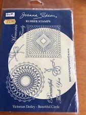 Joanna Sheen's Victorian Doiley Special Heart Rubber Stamp Sheet