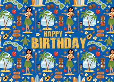 4 Greeting Cards Hawaiian Happy Birthday Vintage Hawaiian Icons