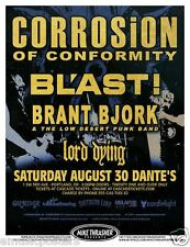 CORROSION OF CONFORMITY / BLAST! / BRANT BJORK 2014 PORTLAND CONCERT TOUR POSTER