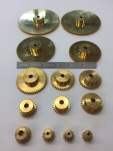 24 PITCH SOLID BRASS SPUR GEARS DIY GEARS BOSTON MA. MAKER, ROBOT, REDUCER BOX !