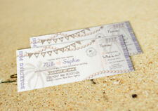 25 Destination Shabby Chic, Vintage Board Pass Wedding Invitations/Tickets!