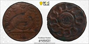 1787 Fugio Cent States United 4 Cinq Colonial Copper Coin PCGS VF Detail Scratch
