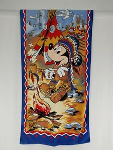 RARE Vintage Disney by Karsten Native American Beach Towel 140cm x 70cm