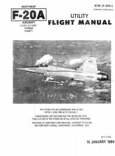Northrop F-20 Tigershark FX Jet manual cancelled prototype RARE DETAILED ARCHIVE
