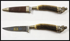 Vintage post Wwii Nice German hunting knife dagger stag handle Look Quality