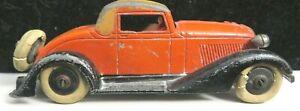 Vintage Tootsietoy Graham Series #514 Red/Black/Tan 5 Wheel Convertible Coupe