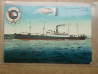 T.S.S ATHENIA Donaldson Liner Steam Ship Hands Across The Sea Vintage Post card